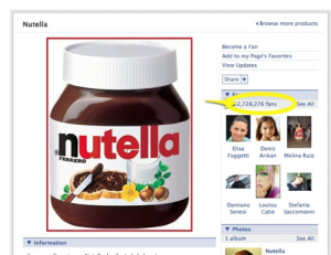 Nutella Facebook Fan Page